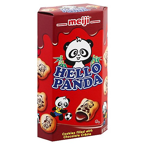 meiji Hello Panda Cookies Filled With Chocolate Creme - 2 Oz
