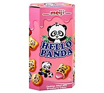 Meiji Hello Panda Biscuits With Strawberry Cream - 2 Oz