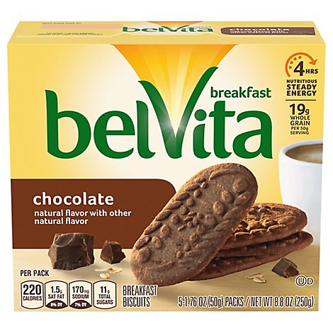 belVita Breakfast Biscuits Chocolate - 5-1.76 Oz