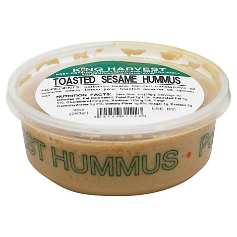 King Harvest Hummus Toasted Sesame - 10 Oz