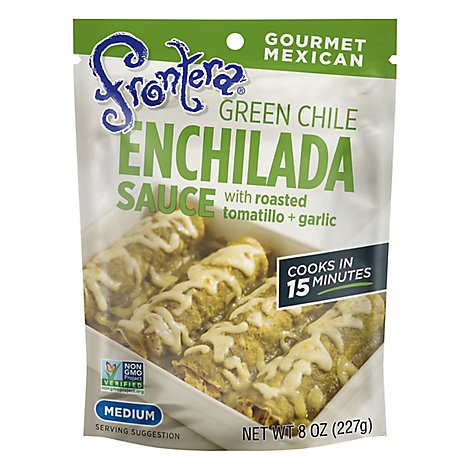 Frontera Sauce Enchilada Green Chile Medium Bag - 8 Oz