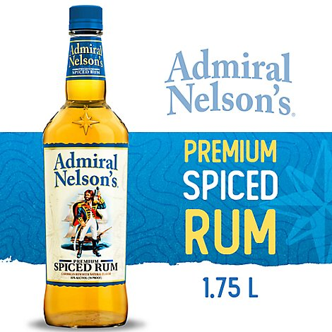 Admiral Nelsons Rum Spiced Premium 70 Proof - 1.75 Liter