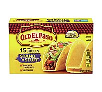 Old El Paso Taco Shells Stand N Stuff Box 15 Count - 7.1 Oz
