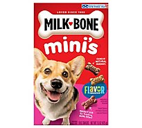 Milk-Bone Flavor Snacks Dog Snacks For All Sizes Minis Beef Chicken Bacon Flavor - 15 Oz