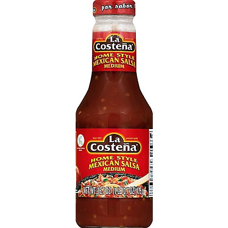 La Costena Salsa Homestyle Mexican Medium Bottle - 16.7 Oz