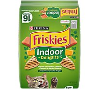 Friskies Cat Food Dry Indoor Delights Chicken Beef & Salmon - 16 Lb