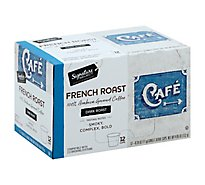 Signature SELECT Coffee K-Cup Pods Single Serve Dark Roast French Roast - 12-0.39 Oz