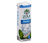 Zola Coconut Water Natural Original - 33.8 Fl. Oz.