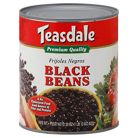 Teasdale Beans Black Can - 29 Oz