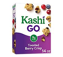 Kashi GO Breakfast Cereal Toasted Berry Crisp - 14 Oz