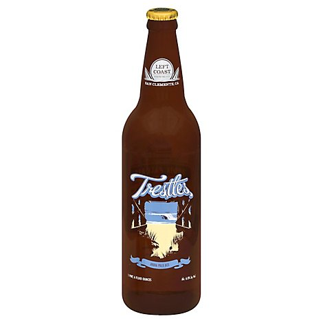Left Coast Trestlesdia Pale Ale Bottle - 22 Fl. Oz.
