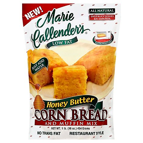 Marie Callenders Corn Bread and Muffin Mix Restaurant Style Honey Butter - 16 Oz
