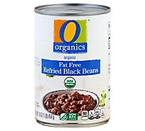 O Organics Organic Beans Refried Black Fat Free Can - 16 Oz