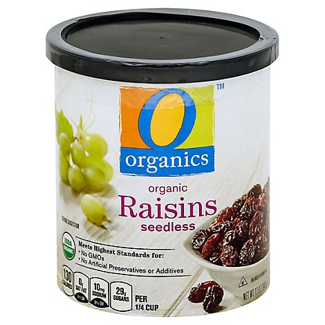 O Organics Organic Raisins Seedless Can - 12 Oz