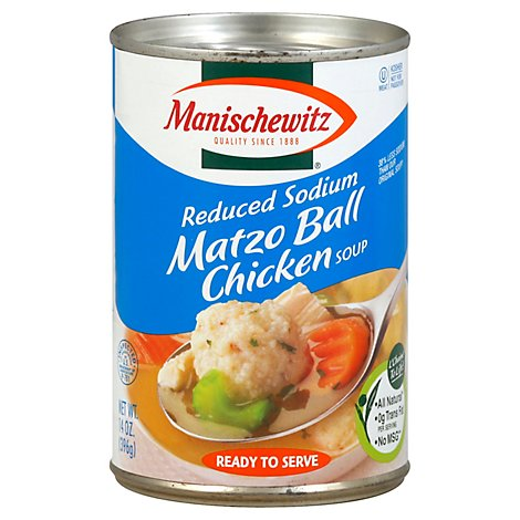 Manischewitz Reduced Sodium Matzo Ball Chicken Soup - 14 Oz