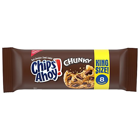 Chips Ahoy! Chunky Cookies Chocolate Chunk King Size! - 4.15 Oz
