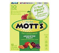 Motts Fruit Flavored Snacks Medleys Assorted Fruit Pear & Apple Juice Concentrates - 10-0.8 Oz