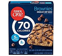 Fiber One Brownies 90 Calories Chocolate Chip Cookie Bar - 6-0.89 Oz