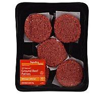 Signature Farms Beef Ground Beef Patties 80% Lean 20% Fat 10 Count - 2.5 Lb