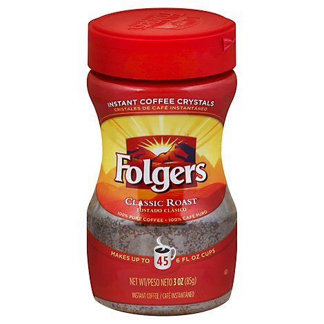 Folgers Coffee Instant Classic Roast - 3 Oz