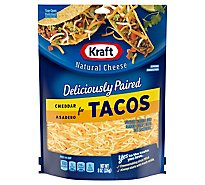 Kraft Natural Cheese Fine Cut Expertly Paired For Tacos Cheddar & Asadero - 8 Oz