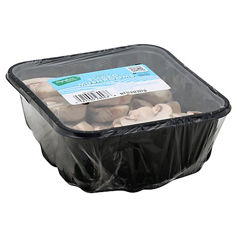 Signature Farms Mushrooms White Sliced - 8 Oz