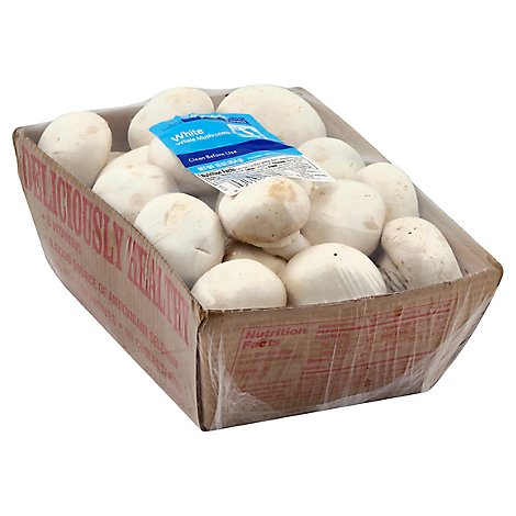 Signature Farms Mushrooms White Whole - 16 Oz