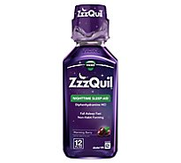 ZzzQuil Nighttime Sleep Aid Liquid Warming Berry - 12 Fl. Oz.