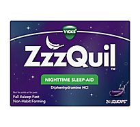 Vicks ZzzQuil Nighttime Sleep Aid LiquiCaps - 24 Count