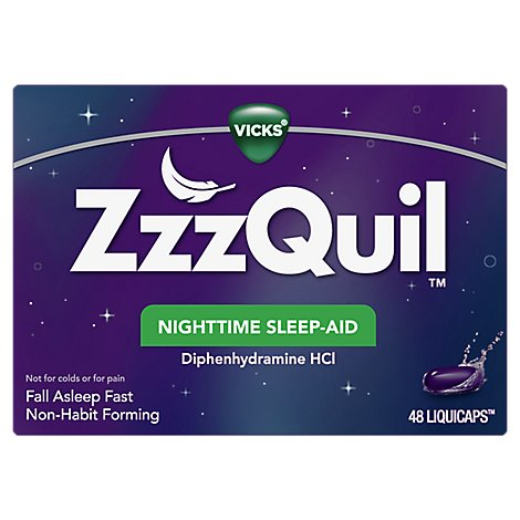 ZzzQuil Nighttime Sleep Aid LiquiCaps - 48 Count