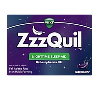 Vicks ZzzQuil Nighttime Sleep Aid LiquiCaps - 48 Count