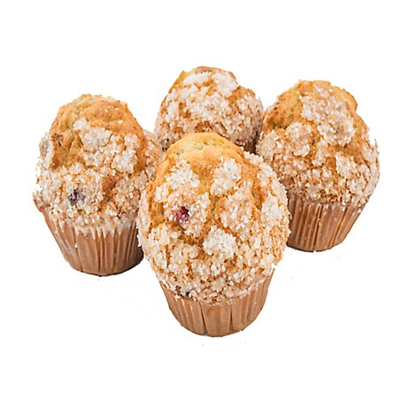 Fresh Baked Cranberry Orange Muffins - 4 Count