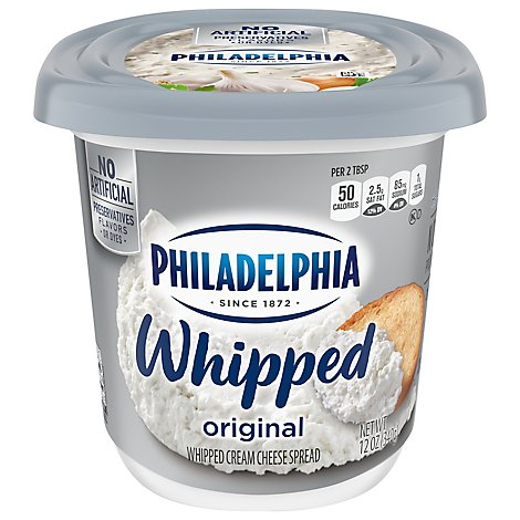 Philadelphia Cream Cheese Spread Whipped Original - 12 Oz