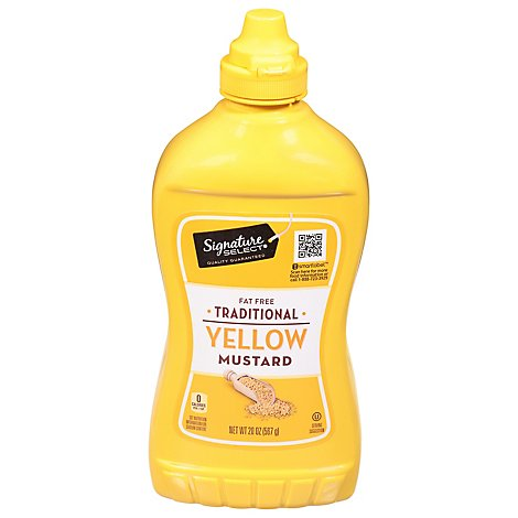 Signature SELECT Mustard Traditional Yellow Bottle - 20 Oz