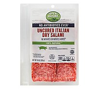 Open Nature Salami Uncured 100% Natural Italian Dry - 10 Oz