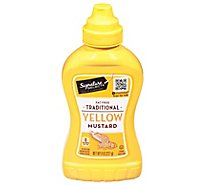 Signature SELECT Mustard Traditional Yellow Bottle - 8 Oz