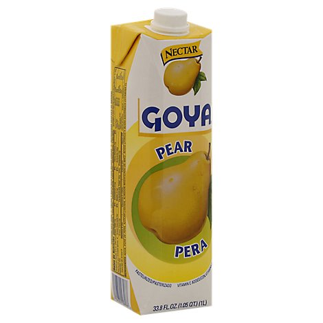 Goya Nectar Pear Carton - 33.8 Fl. Oz.