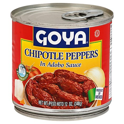Goya Peppers Chipotle In Adobo Sauce Can - 12 Oz