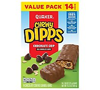 Quaker Chewy Dipps Granola Bars Chocolate Chip Value Pack - 14-1.09 Oz