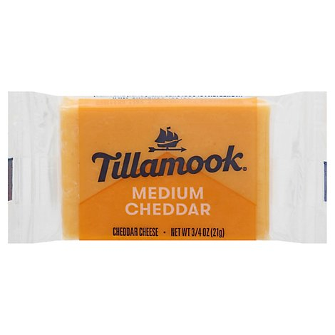 Tillamook Medium Cheddar Cheese - .75 Oz