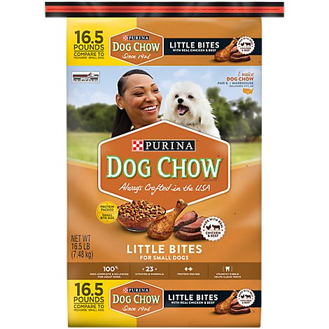 Dog Chow Dog Food Dry Little Bites Chicken & Beef - 16.5 Lb