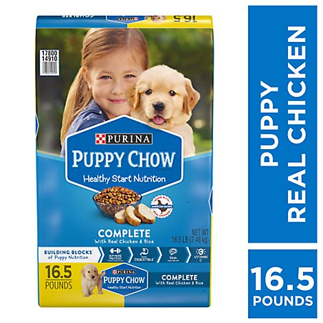 Puppy Chow Dog Food Dry Complete Chicken - 16.5 Lb