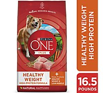 Purina ONE SMARTBLEND Dog Food Premium Adult Healthy Weight Formula Bag - 16.5 Lb