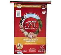 Purina ONE SMARTBLEND Adult Dry Dog Food Premium Chicken & Rice Formula- 16.5 Lb