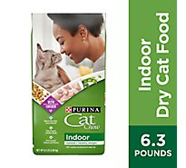 Cat Chow Cat Food Dry Indoor Blend Of Proteins With Accents Of Garden Greens - 6.3 Lb