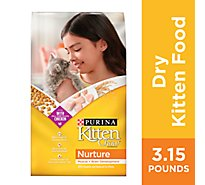 Kitten Chow Cat Food Dry Nurture Chicken - 3.15 Lb