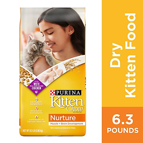 Purina Kitten Chow Cat Food Dry Nurture Chicken - 6.3 Lb