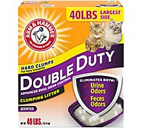 ARM & HAMMER Cat Litter Clumping Double Duty Extra Value Box - 40 Lb