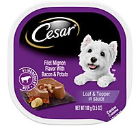 Cesar Savory Delights Canine Cuisine In Meaty Juices Filet Mignon Tub - 3.5 Oz
