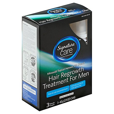 Signature Care Hair Regrowth Treatment For Men - 3-2.11 Oz